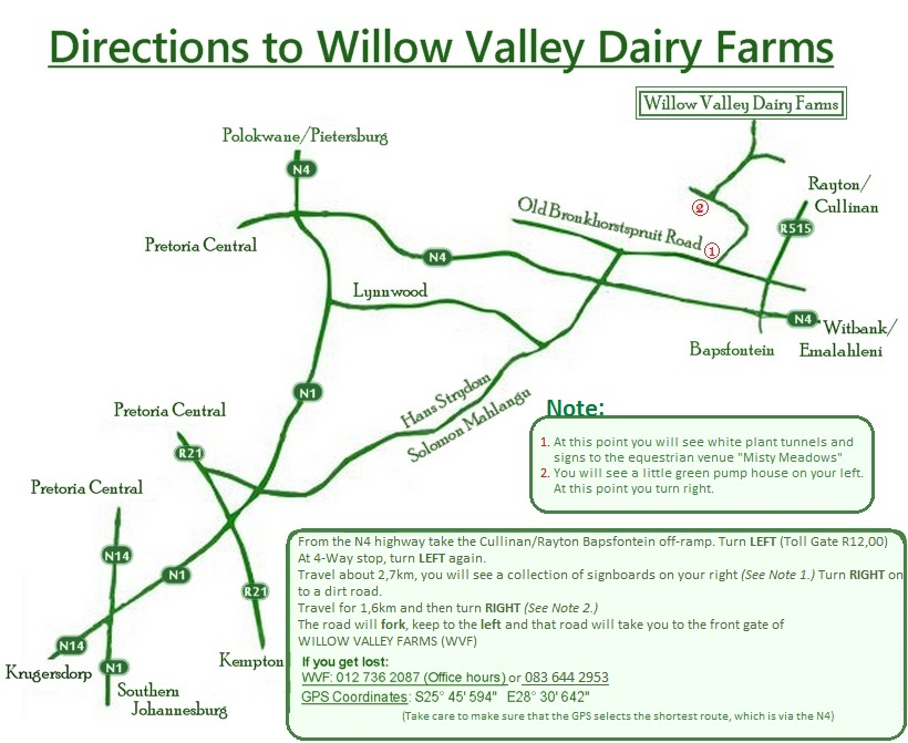 Map to our farm